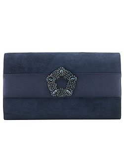 Georgie Suede Clutch Bag