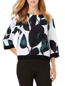 Phase Eight Lisa Leaf Print Blouse