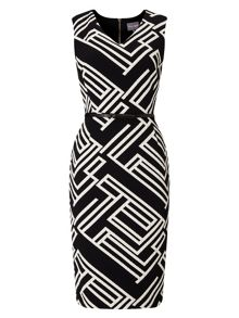 Phase Eight Caroline Structured Stripe Dress