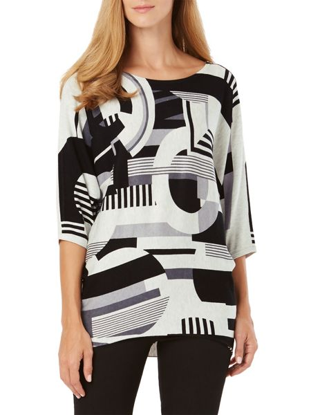 Phase Eight Circles Block Print Knit Jumper
