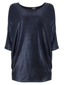 Phase Eight Foil Print Becca Batwing Jumper