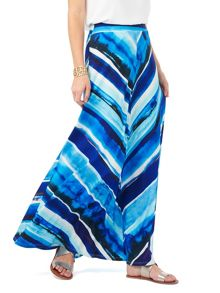 Phase Eight Painterly Stripe Maxi Skirt