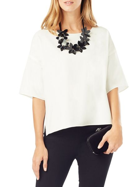 Phase Eight Ana Necklace Trim Top