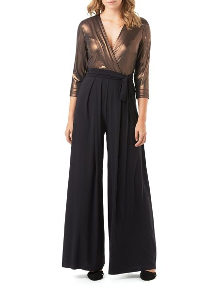 Phase Eight Bronze Wrap Jumpsuit