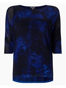 Phase Eight Violetta Print Knitted Top