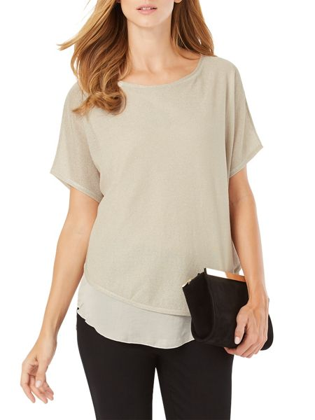 Phase Eight Macey Metallic Knit Top