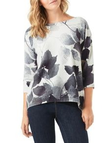 Phase Eight Alcina Leaf Print Jumper