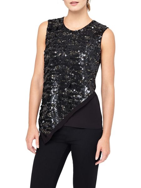 Phase Eight Gayle Asymmetric Sequin Top