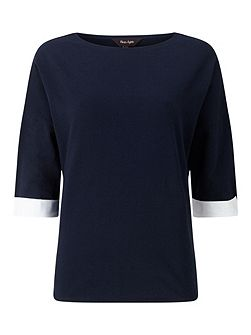 Winifred Woven Back Colour Block Top