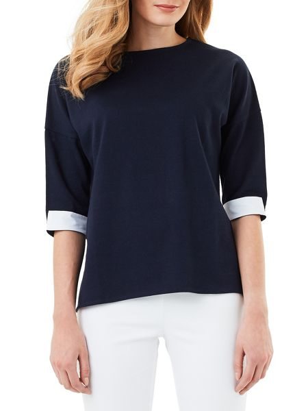Phase Eight Winifred Woven Back Colour Block Top