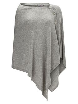 Cashmere Blend Button Wrap