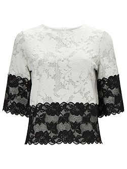 Jacquard Lace Top