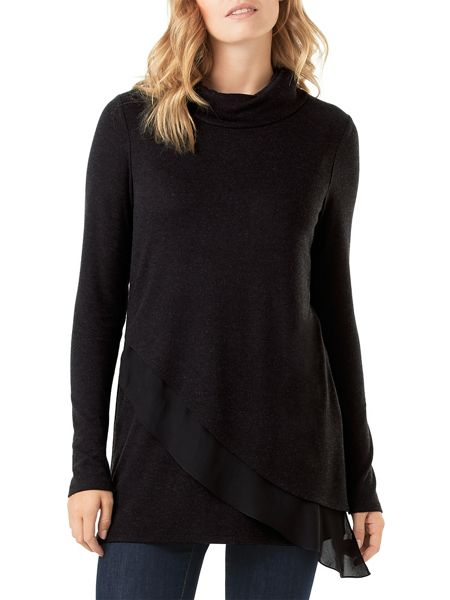 Phase Eight Woven Hem Roll Neck Jumper