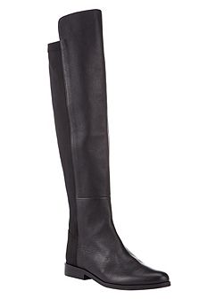 Jemma Leather Stretch Boot