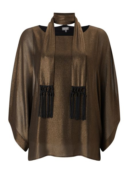 Phase Eight Fina Foil Fringe Scarf Top