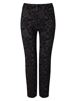 Erica Metallic Jacquard Trousers