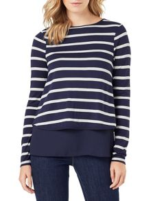 Phase Eight Samara Double Layer Stripe Top