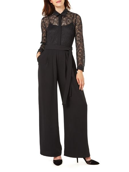 Phase Eight Lace Shirt Jumpsuit