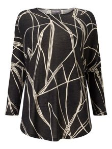 Phase Eight Abstract Line Print Top