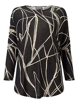 Abstract Line Print Top