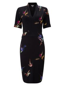 Phase Eight Bird Print Dress