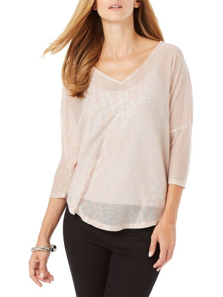 Phase Eight Spot Burnout Top