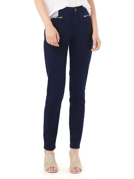 Phase Eight Victoria Brushed Zip Jeans