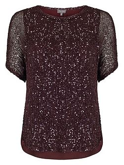 Sequin Macey Knitted Top