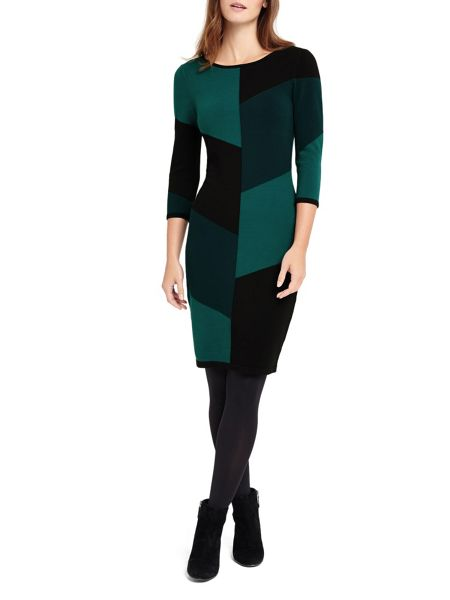 Phase Eight Abriana Block Knitted Dress