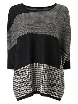 Anita Patched Jacquard Knitted Jumper