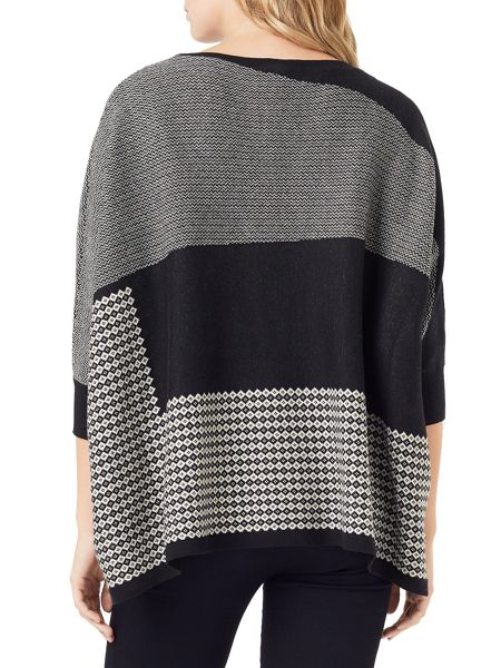 Phase Eight Anita Patched Jacquard Knitted Jumper