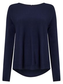 Phase Eight Terza Zip Back Swing Knitted Jumper