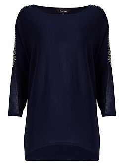 Donisha Beaded Shoulder Knit Jumper
