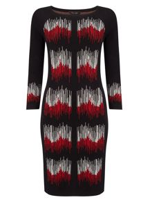 Phase Eight Zarah Zig Zag Knit Dress