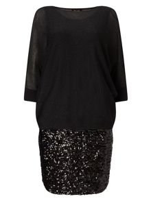 Phase Eight Geonna Sequin Skirt Dress