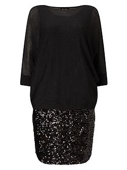 Geonna Sequin Skirt Dress