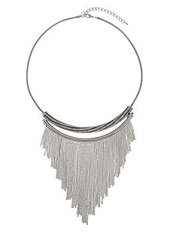 Mae Crystal Tassle Necklace