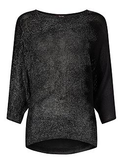 Bona Brushstroke Foil Knitted Jumper