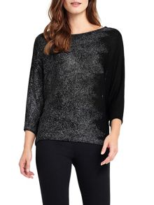 Phase Eight Bona Brushstroke Foil Knitted Jumper