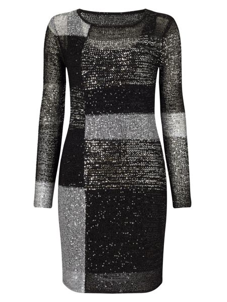 Phase Eight Juana Blocked Sequin Dress