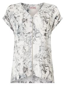 Phase Eight Melina Marble Print Blouse