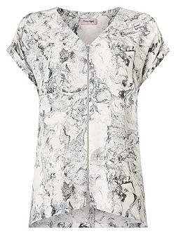 Melina Marble Print Blouse
