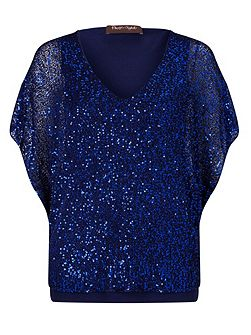 Antonella Sequin Knitted Top