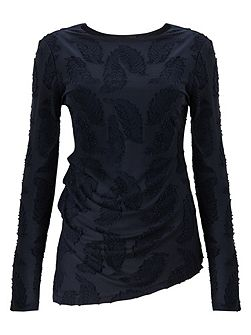 Feather Jacquard Top
