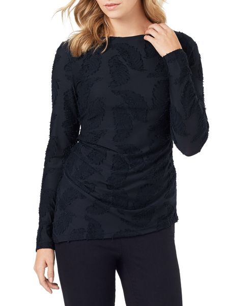 Phase Eight Feather Jacquard Top