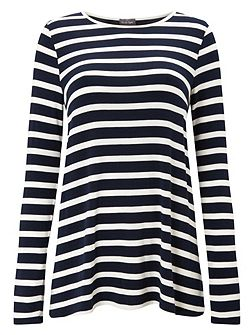Petra Pleat Back Stripe Top