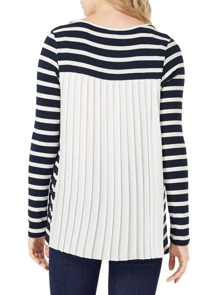 Phase Eight Petra Pleat Back Stripe Top