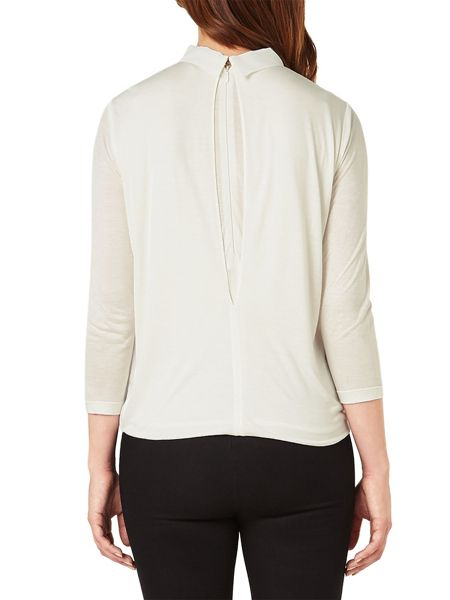 Phase Eight Pleated Jersey Blouse