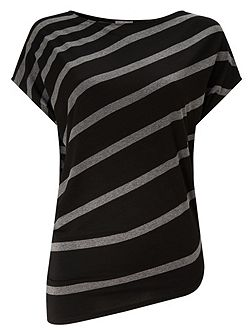 Amy Asymmetric Stripe Top