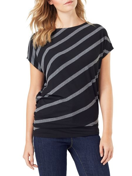 Phase Eight Amy Asymmetric Stripe Top